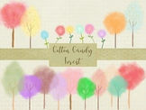 Cotton Candy Forest Elements, High Resolution 300ppi, Sepa
