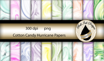 Cotton Candy Hurricane Papers Clipart