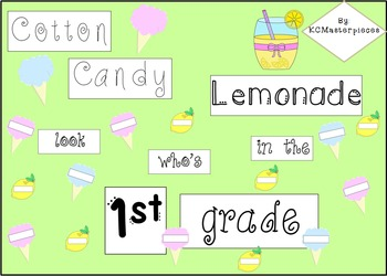 Cotton Candy Lemonade Bulletin Board Set!