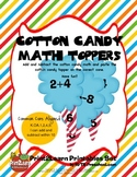Cotton Candy Math Toppers {Common Core Aligned}