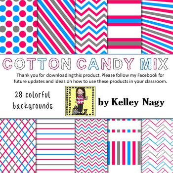 Cotton Candy Mix Digital Papers
