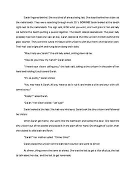 Cotton Candy Unicorn Short Story