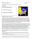 Cotton Gin & Growing Sectionalism DBQ - First Lesson in Civil War Unit - No Prep