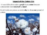 Cotton Gin PowerPoint Presentation