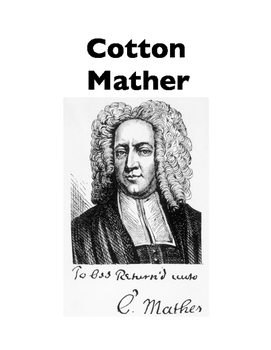 Cotton Mather (Cloze and Writing)