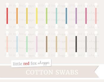 Cotton Swab Clipart; Bathroom