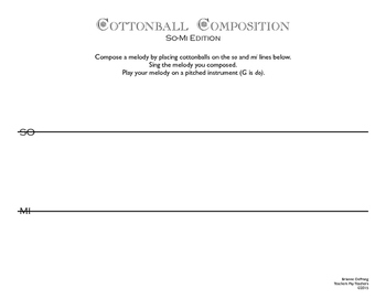 Cottonball Composition- G Pentatonic Set
