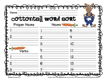 Cottontails: Easter-Themed Word Work for the Primary Grades