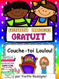 Couche-toi Loulou! (French Ressource, sight words, French printables)