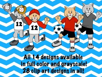 Cougar Mascot Sports Clip Art featuring Red, White, and Black Uniforms