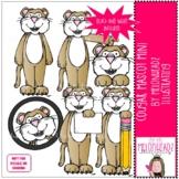 Cougar Mascot clip art - Mini - by Melonheadz Clipart