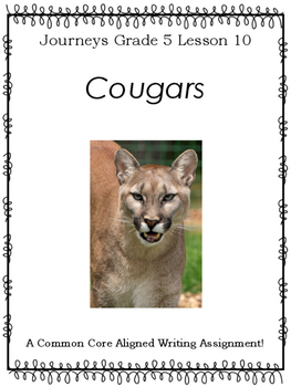 Cougars Journeys Test Worksheets Teaching Resources Tpt