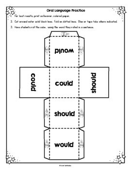 Conditional Verbs: Could, Should, Would Poster, Practice Pages and Activities