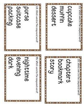 Could They Be Compounds? Cut and Paste & Scoot Game