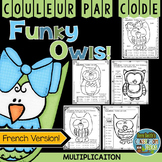 Couleur Par Code Multiplication Color By Numbers Multiplication French Version