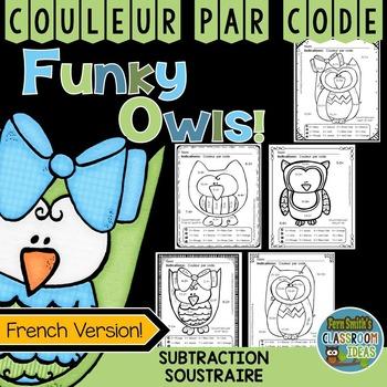 Couleur Par Code Soustraire Color By Numbers Subtraction French Version