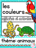French Couleurs Animaux Literacy Centers