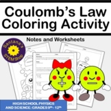 Coulomb's Law Coloring Challenge: Notes and Worksheets