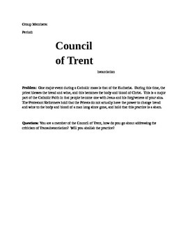 Council of Trent Interactive Activity