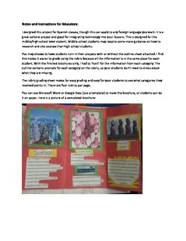 Country Travel Brochure - Cultural Project