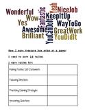 Counseling Behavior Chart Three