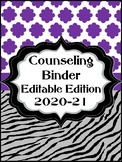 Counseling Binder Editable Edition