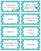 Bibliotherapy Counseling Bookshelf Library Labels: Teal Polka-Dots