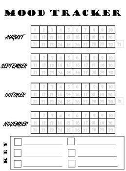 photo regarding Bullet Journal Mood Tracker Printable named Counseling Bullet Magazine- Temper Tracker
