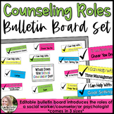 Counseling Bulletin Board Set Roles of a Counselor