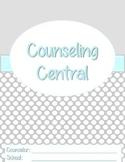 "Counseling Central Binder Set ""Classy"" {Aqua-Gray Set}"