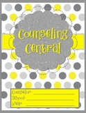 "Counseling Central Binder Set ""Happy""  {Gray-Yellow}"