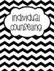 "Counseling Central Binder Set ""Original"" {Black Chevron}"