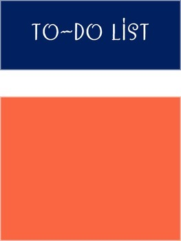 "Counseling Central Binder Set ""Posh"" {Papaya-Navy Set}"