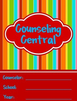 """Counseling Central Binder Set """"Bold"""" {Red-Turquoise Set}"""