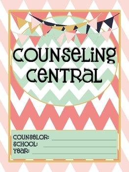 "Counseling Central Binder Set ""Rustic"" {Navy-Blush Set}"