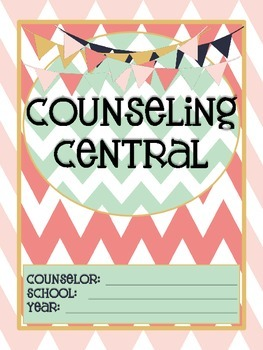 "Counseling Central Binder Set ""Rustic"" {Navy-Blush Set}"