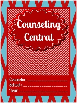 "Counseling Central Binder Set ""Whimsical""  {Dark Red-Aqua Set}"