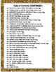 """Counseling Central Binder Set/Tabs/Spines """"Glam"""" {Black-Gold}"""