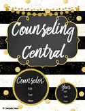 "Counseling Central Binder Set/Tabs/Spines ""Glam"" {Black-Gold}"