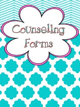 "Counseling Central Binder Set with Tabs/Spines ""Frilly"" {Turquoise-Pink}"