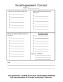 Counseling / Classroom Social Contract template
