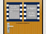 School Counselor Confidentiality Sign, In Session Do Not Disturb Sign