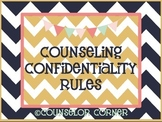 Counseling Confidentiality Rules {Rustic Set}
