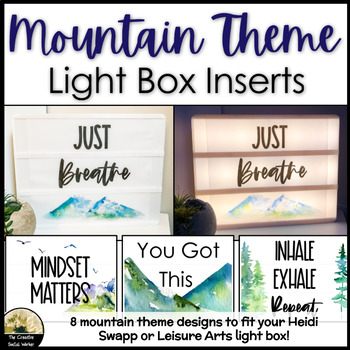 Counseling Decor Mountain Lightbox Inserts