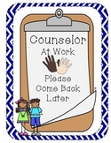 Counseling Do Not Disturb Sign