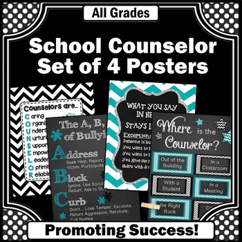 Where is the School Counselor Posters, Confidentiality Rules, Anti Bullying