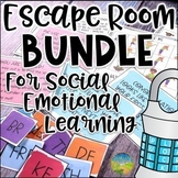 Escape Room Bundle for Social Emotional Learning   SEL Activities