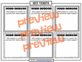 Counseling Exit Tickets