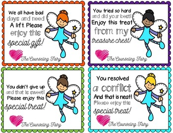 Counseling Fairy Celebration Cards