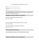 Counseling Feedback Form
